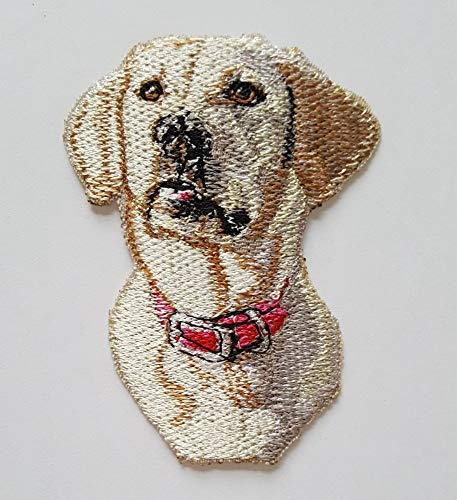 Labrador Yellow Dog Puppy Embroidered Patch (2.3