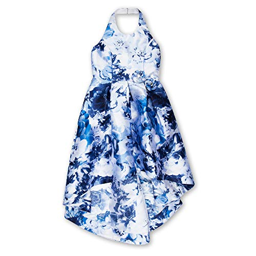 Speechless Girls' Big Floral Mikado Hi Lo Dress,