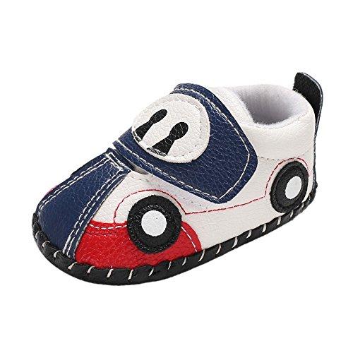 Weixinbuy Infant Baby Boy's Cartoon Car Pattern Soft Sole Anti-Slip Casual Sneaker Shoes Red (Casual Pattern Cartoon)