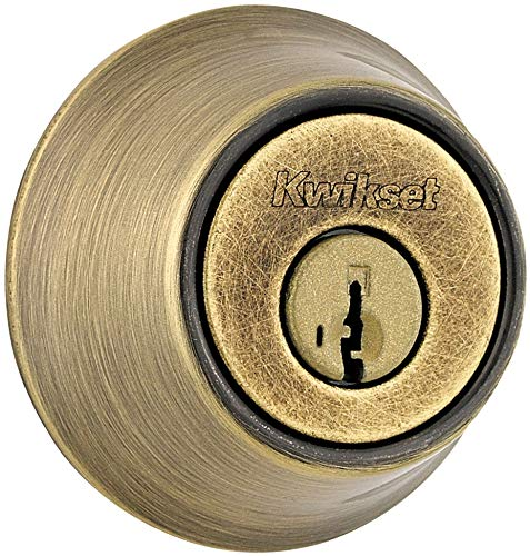665 Series Double Cylinder - Kwikset 665-S Double Cylinder Deadbolt with SmartKey from The 660 Series, Antique Brass
