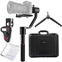 MOZA Air 3-Axis Handheld Gimbal Camera Stabilizer+Dual Handle Grip+Wireless Thumb Controller OLED Display+Accessory Mount W/ Max Payload of 7 lbs/3200g Support All Mirrorless Cameras and Most DSLRs