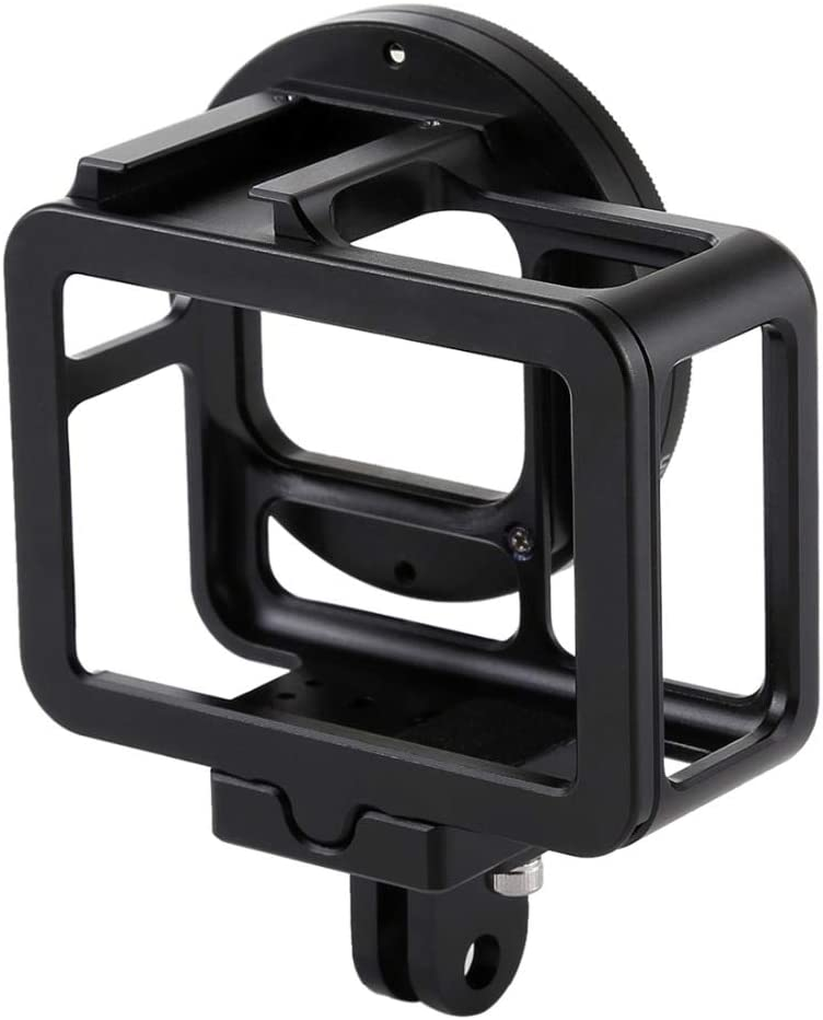 Housing Shell CNC Aluminum Alloy Protective Cage Case with Insurance Frame /& 52mm UV Lens for HERO7 Blac CHUN-Accessory
