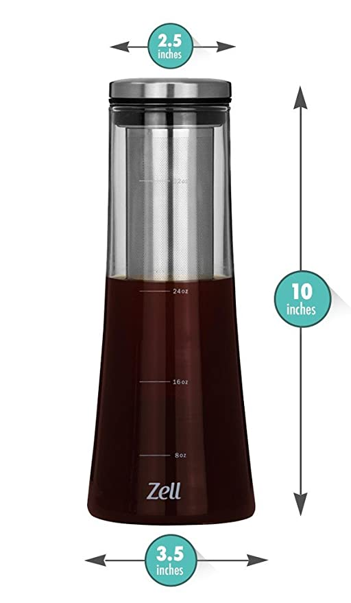 Amazon.com: Zell fría brew coffee maker | mejor Home Iced ...