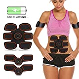ABSLIMUS Pro USB Charging Muscle Toner Abs Simulator Abdominal Toning Belt Workouts Wireless EMS Training Home Office Fitness Equipment for Abdomen/Arm/Leg Training Men Women