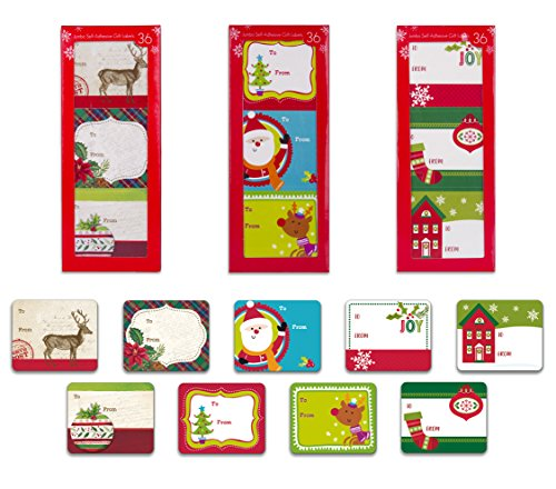 Christmas Adhesive Stickers Assorted Reindeer