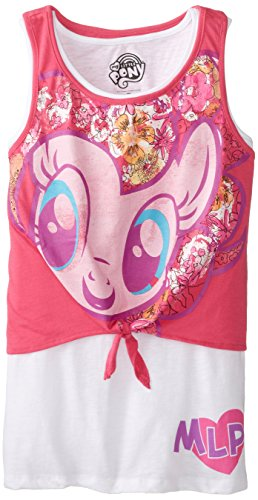 MY LITTLE PONY Big Girls' Character Tank, Hot Pink, 7/Small