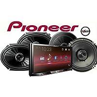 Pioneer MVH-300EX 7 Digital Multimedia Video Receiver, a Pair of Pioneer TS-G1645R 6-1/2 2-way & TS-G6845R 6x8 2-way car speakers and a SOTS Air Freshener