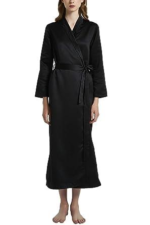 YAOMEI Kimono Albornoz para Mujer, Satín Camisón Robe Albornoz Dama de Honor Ropa de Dormir