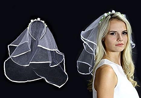 262dcda179 Velo de novia con una diadema con una corona de rosas.  Amazon.es  Juguetes  y juegos