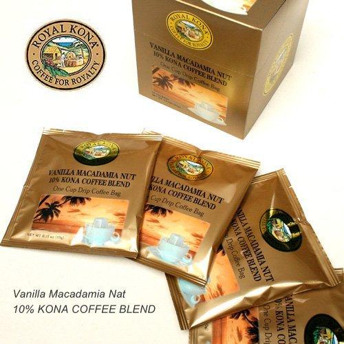 [ROYAL KONA COFFEE] 로얄 코나 커피 원 드립 백 10g × 10 봉지 (바닐라 마카다미아 넛)