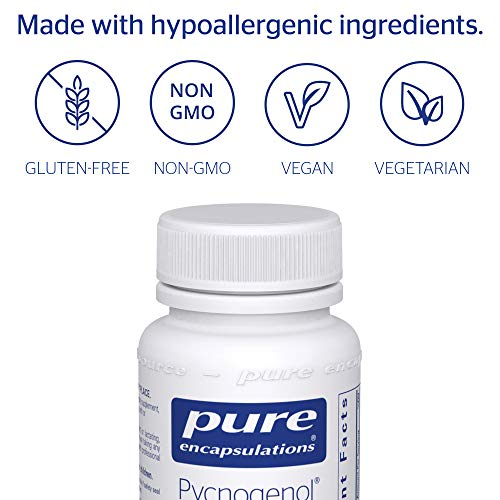 Pure Encapsulations - Pycnogenol 100 mg - Hypoallergenic Supplement to Promote Vascular Health and Provide Antioxidant Support* - 60 Capsules by Pure Encapsulations (Image #3)