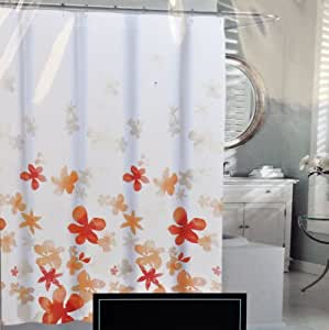 Amazon Com Cynthia Rowley Orange Floating Flower Fabric