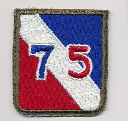 Unsewn, 75th Infantry Division patch. MINT dated 1945 - WWII - Ardennes Forest - Battle of the Buldge - Great Piece of WWII history.