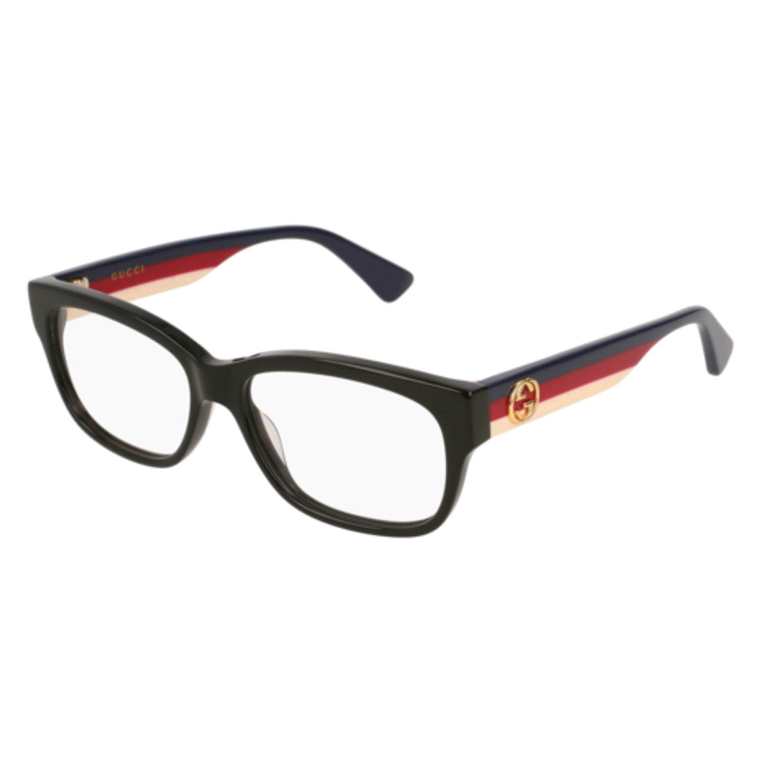 Gucci GG 0278O 001 Black Plastic Rectangle Eyeglasses 53mm by Gucci (Image #1)