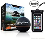 Cheap Deeper Smart Sonar PRO+ Series, 2.55″, Black – GPS, Wi-Fi Connected Wireless, Castable, Portable Smart Fishfinder for iOS & Android Devices & Universal Waterproof Cellphone Case (Bundle)