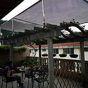 LKLXJ Vela de la Sombra, Cubierta del Techo del automóvil, Pantalla de la Sombra, Tela de Sombra Reflectante al 75%, Red Solar de pérgola para jardín - Compacto (4x6 m) con Bordes