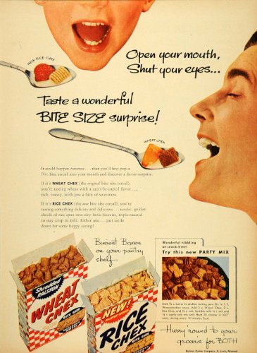 1946-ad-wheat-rice-chex-cereal-ralston-purina-party-mix-original-print-ad