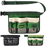 FASITE YL003G 7-Pocket Gardening Tools Belt Bags Garden Waist Bag Hanging Pouch, Green