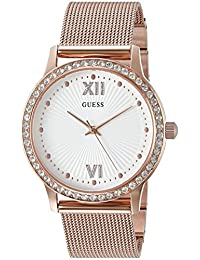 GUESS Women's U0766L3 Sleek Rose Gold-Tone Watch with Self-Adjustable Links