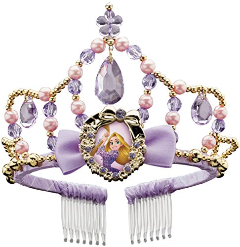 [Disguise Rapunzel Classic Disney Princess Tangled Tiara, One Size Child, One Color] (Rapunzel Costumes For Girl)