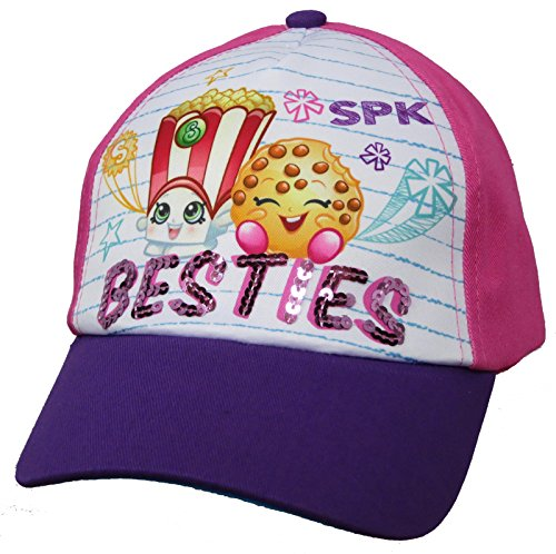 Shopkins Poppy Corn and Kooky Cookie Girls Baseball Cap - Size 4-14 [6014]