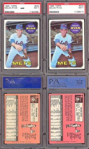 - 1969 Topps Regular (Baseball) card#533-psa Nolan Ryan psa of the New York Mets Grade Excellent to Excellent Mint