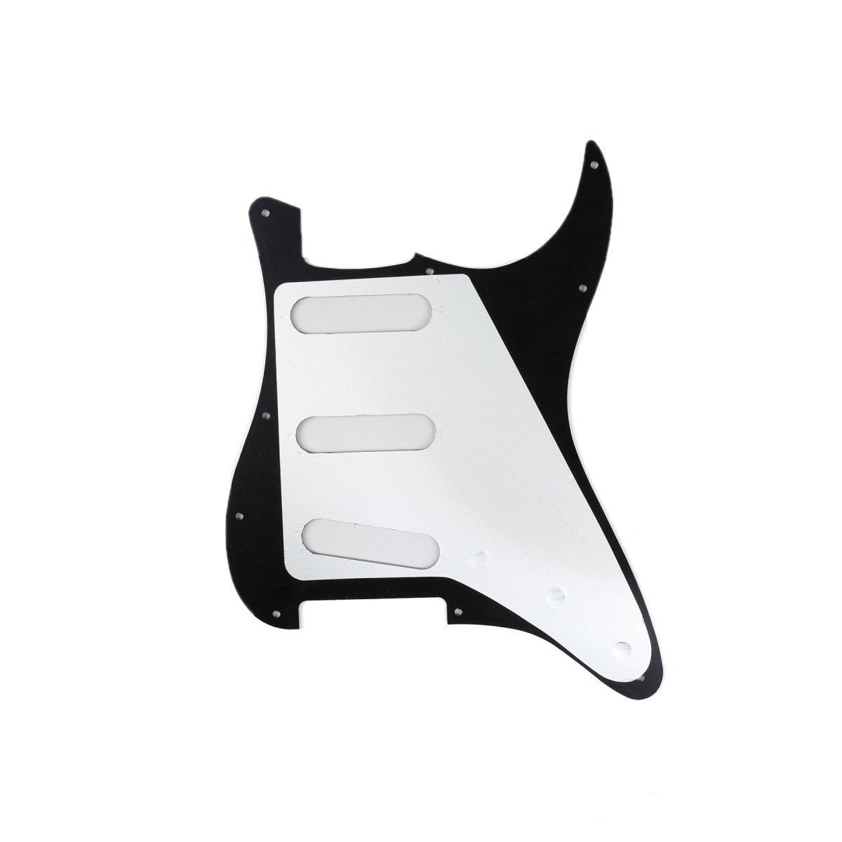 Pickguard Left Hand Handed Strat Fender Stratocaster USA//MIM Black 3 Ply Sss