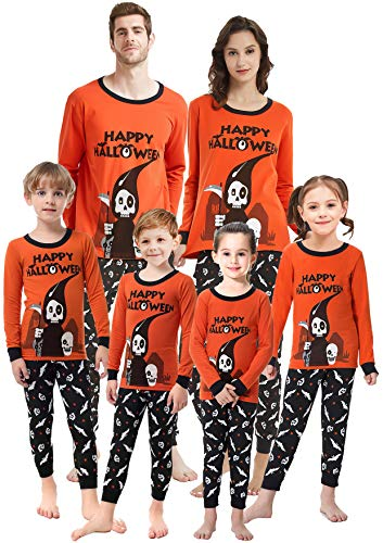 shelry Matching Family Pajamas Boys Pjs Girls Halloween Clothes Women Cotton Clothes Sleepwear for Women Medium