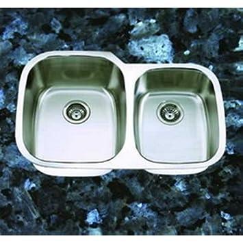 suneli 32 u0026quot  x 21 u0026quot  undermount double bowl kitchen sink     suneli 32   x 21   undermount double bowl kitchen sink   sm503 r      rh   amazon com