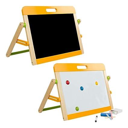 WOOMAX- Play&Learn Pizarra de mesa, Multicolor (Color Baby 46208)