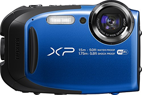 Fujifilm FinePix XP80 Waterproof Digital Camera with 2.7-Inch LCD (Blue)