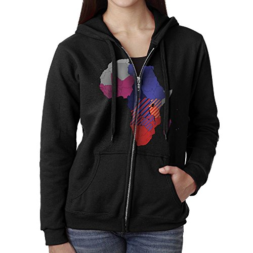 Africa Sweater Shirt Zipper Jacket Sun Hooded Sweatshirt For Woman Fit Rowing Black Large (Halloween History Documentary For Kids)