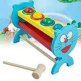 Icarekit Wooden Ball Hammer Hammering Game Kids Children Educational Toy Gift