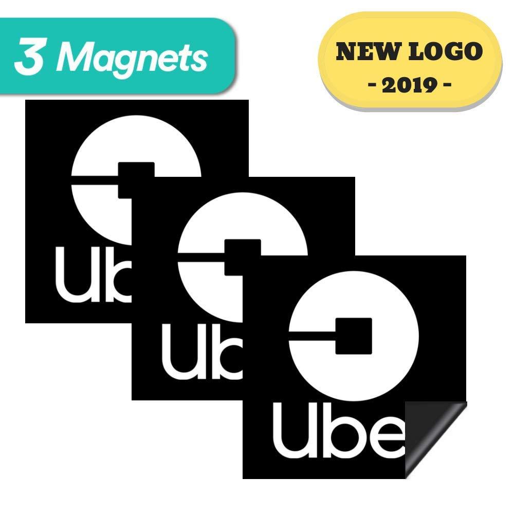 Uber sign magnet 3 premium magnets bulk pack 5x5 inches durable car door bumper magnet w highly reflective vinyl sign for uber lyft