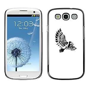 "For SAMSUNG Galaxy S3 III / i9300 / i747 ( I9300 ) Case , Pájaro Paraplane plumas indias Blancas"" - Diseño Patrón Teléfono Caso Cubierta Case Bumper Duro Protección Case Cover Funda"