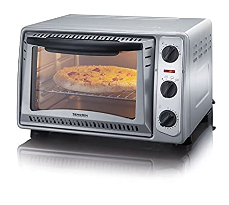 Severin TO 2045 Horno para pizza, 1500 W, 20 litros, Metal, Gris ...