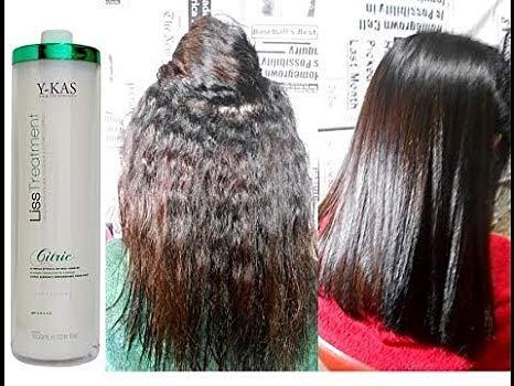 y-kas Cítrico Liss treatmet queratina brasileña pelo alisado de Peine Plancha de pelo cepillo de alisar sistema progresivo 1L: Amazon.es: Belleza