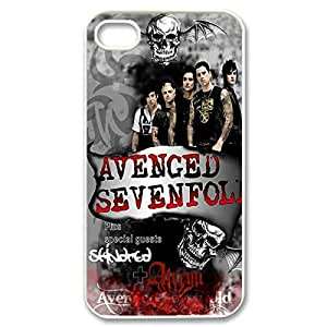 Amazing Painting Design with A7X Avenged Sevenfold Thin & Strong Plastic Shell Cover for iPhone 4 4s -White031301 by ruishername