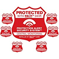 Home Security Alarm Sign & 6 Matching stickers