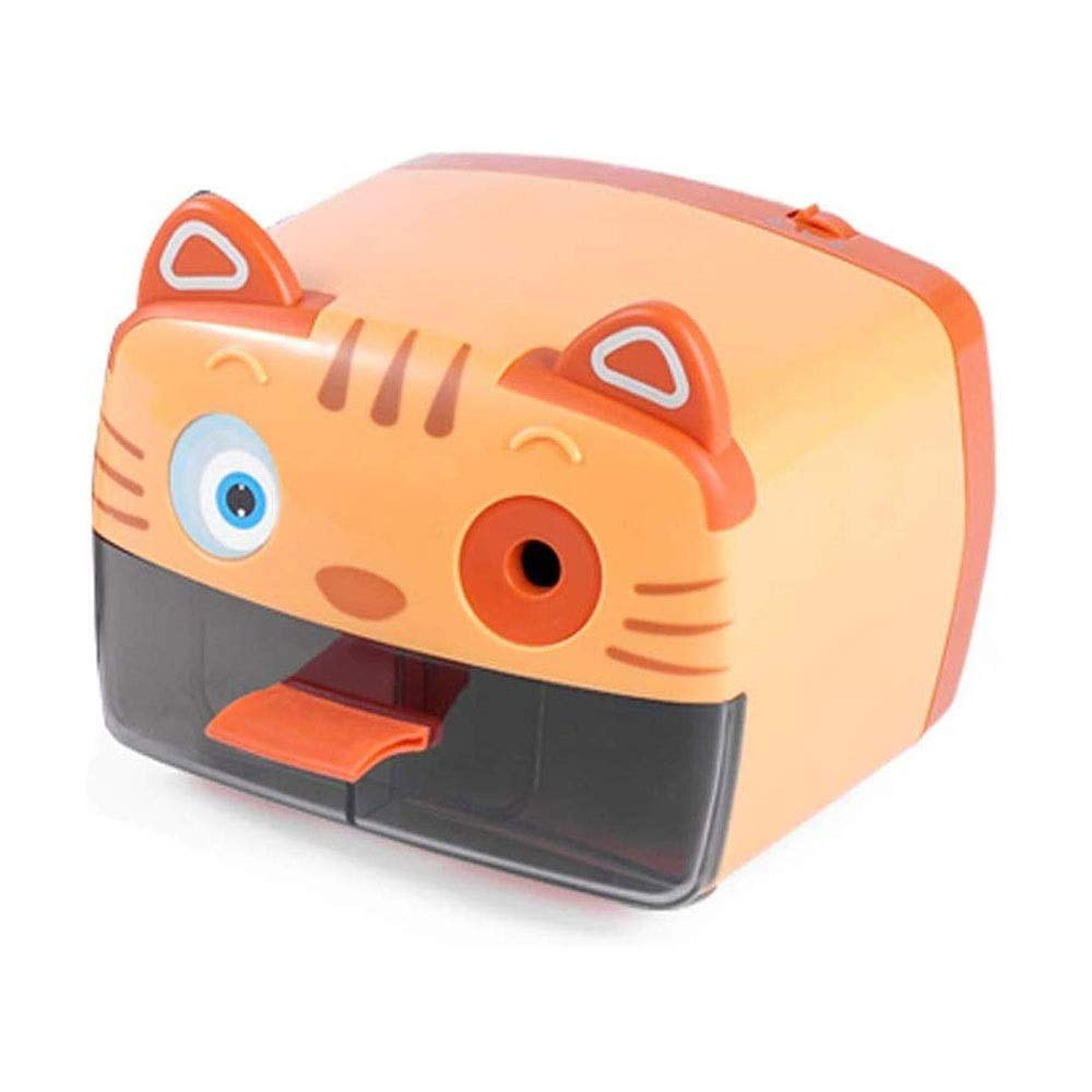 HEMFV Electric Pencil Sharpener, Three Pencil Lead Sizes Adjustable, Auto-Stop Feature Heavy Duty Helical Blade Sharpeners Plug in for Kids Artists Classroom Office School (Color : Orange) by HEMFV