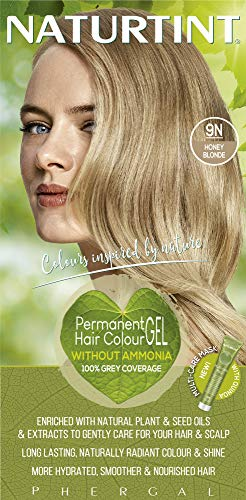 Naturtint Permanent Hair Color, 9N Honey Blonde, Plant Enriched, Ammonia Free, Long Lasting Gray Coverage and Radiante Color, Nourishment and Protection