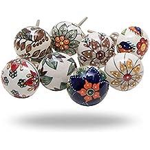 Set of 8 Big Beauty Ceramic Knobs By Trinca-Ferro
