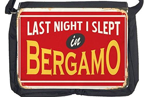 Borsa Tracolla Retro Bergamo Italia Stampato