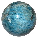 Apatite Ball 69 Blue Red Crystal Throat Third Eye Chakra Stone Metaphysical Energy Sphere 2.2''