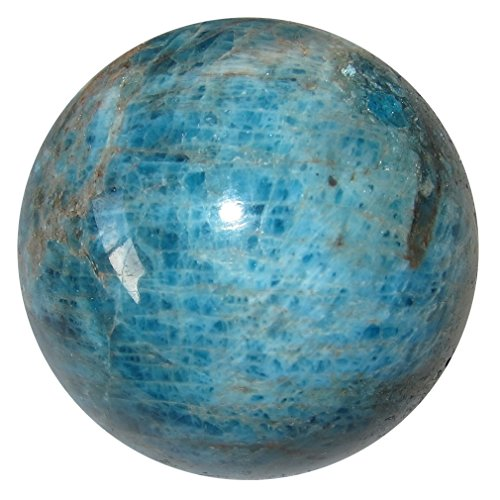 Apatite Ball 69 Blue Red Crystal Throat Third Eye Chakra Stone Metaphysical Energy Sphere 2.2'' by SatinCrystals