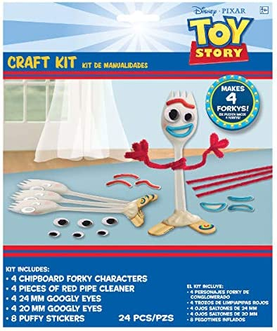 Cups tattoos and an Exclusive GiftsOfJoy party planning checklist Balloons Tablecover The Ultimate Toy Story 4 Birthday Party Party Pack For 16 includes: Plates balloons Napkins forky craft kit