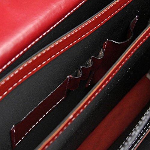 CTM Borsa Uomo Moro 24 ore porta documenti, 41x31x18cm, Vera Pelle 100% Made in Italy