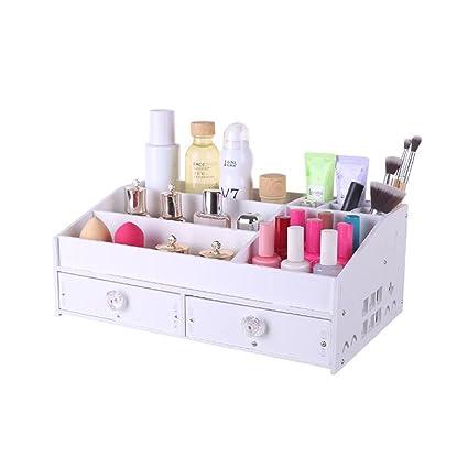 Tipo de cajón Estantería de residuos Caja de Almacenamiento de cosméticos Cuadro de tocador cosmético de