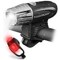 Aduro Sport LED Bicycle Headlight + Rear Tail Light Kit