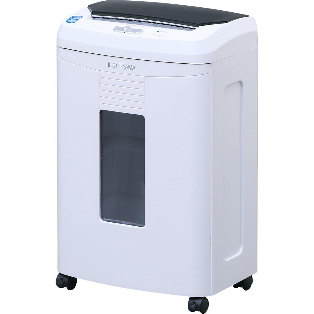 アイリスオーヤマ シュレッダー オフィス向け 自動細断機能 細密 マイクロカット 細断枚数 100枚 ホワイト AFS100M 1)本体  B074WS986Z